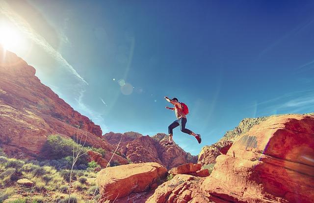 Man, Jumping, Joyful, Happy, Athletic, Outdoor, Fun