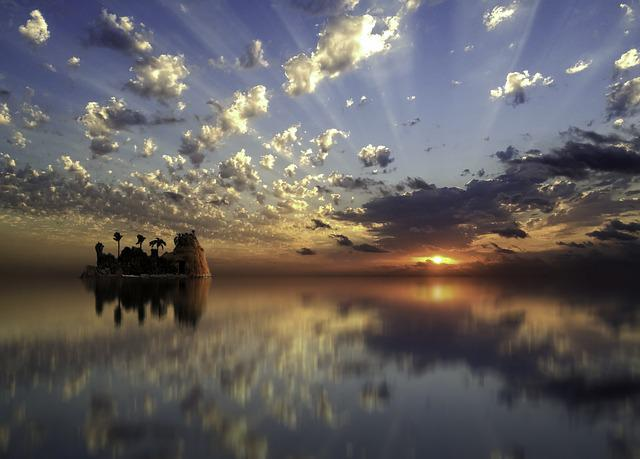 Sunset, Water, Dawn, Reflection, Sky, Nature, Outdoor