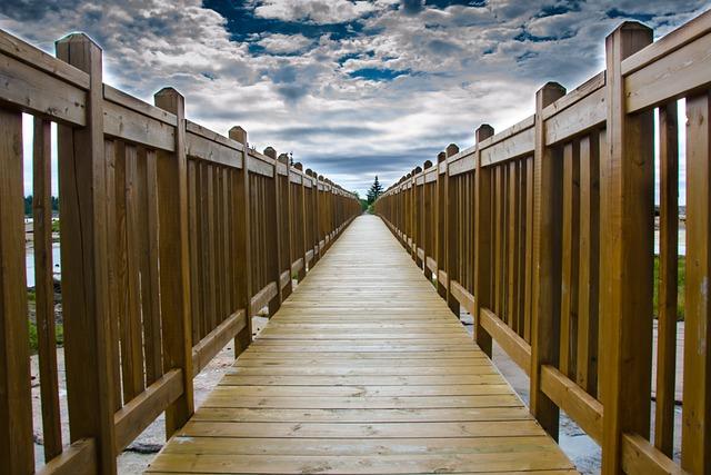 No Person, Bridge, Outdoor, Sky, Wood, Passage