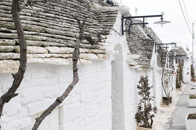 Winter, Architecture, Outdoors, Old, Wood, Trulli