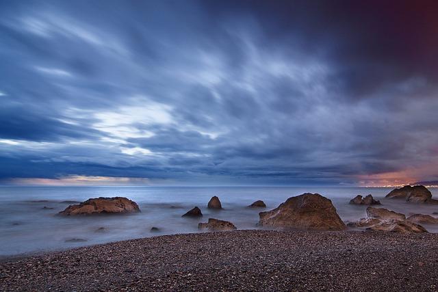 Beach, Nature, Ocean, Outdoors, Overcast, Pebbles