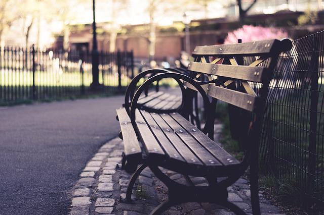 Benches, Outdoors, Park, Path