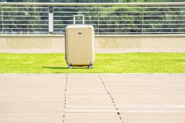 Luggage On Wheels, Case, Outdoors