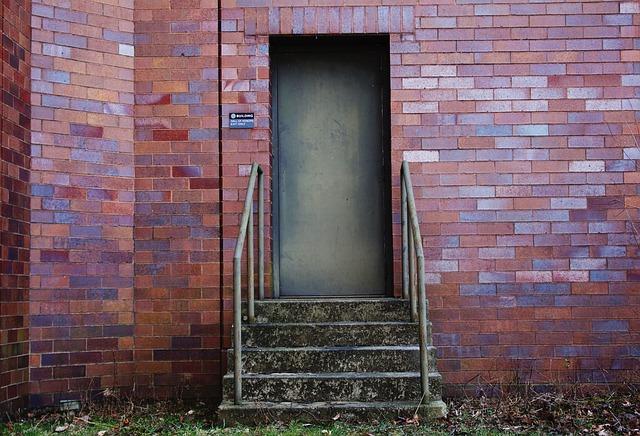 Brick, Door, House, Entrance, Wall, Step, Outdoors