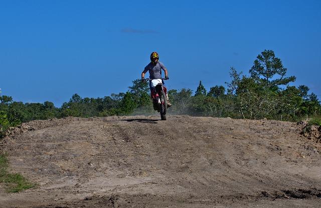 Ramp, Rider, Landing, Soil, Outdoors, Nature, Sky