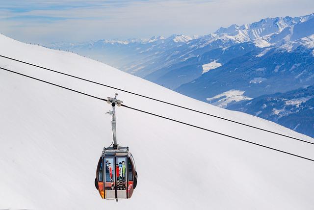 Ski, Lift, Sky, Mountain, Outdoors, Winter, Snow, White