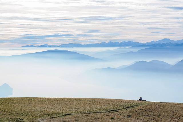Mountains, Panorama, Fog, Clouds, Atmospheric, Outlook