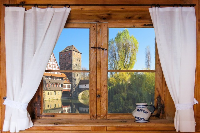 Architecture, Window, Outlook, Tower, Curtain