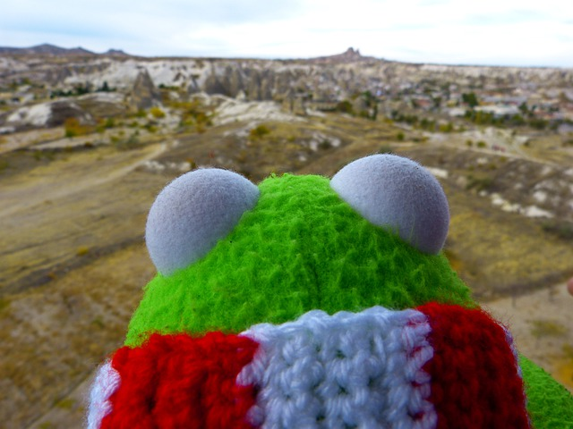 Kermit, Frog, Outlook, Good View, Uchisar, Tufa
