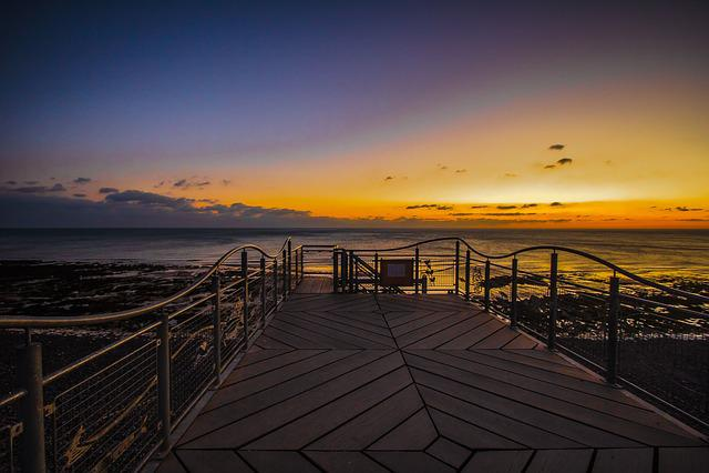 Sunset, Outlook, Seven Sisters, Sea