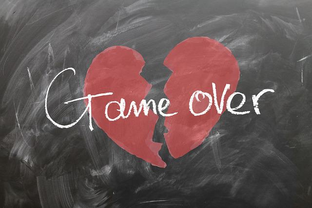 Board, Heart, Play, Over, Love, Off, End, Separation
