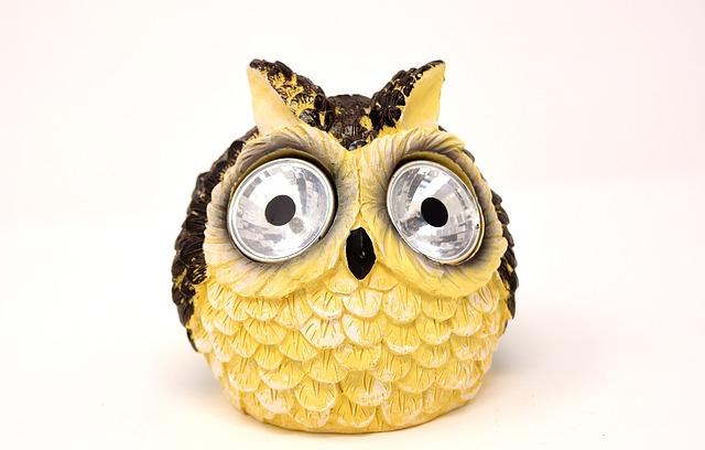 Owl, Solar Lamp, Cute, Bird, Lamp, Figure, Funny