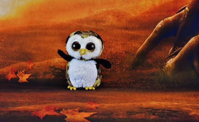 Owl, Glitter Eyes, Forest, Soft Toy, Funny, Teddy Bear