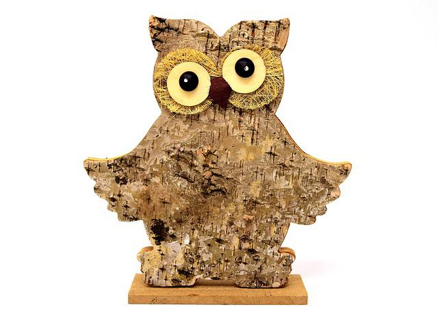 Owl Wood, Tree Bark, Nature, Figure, Cute