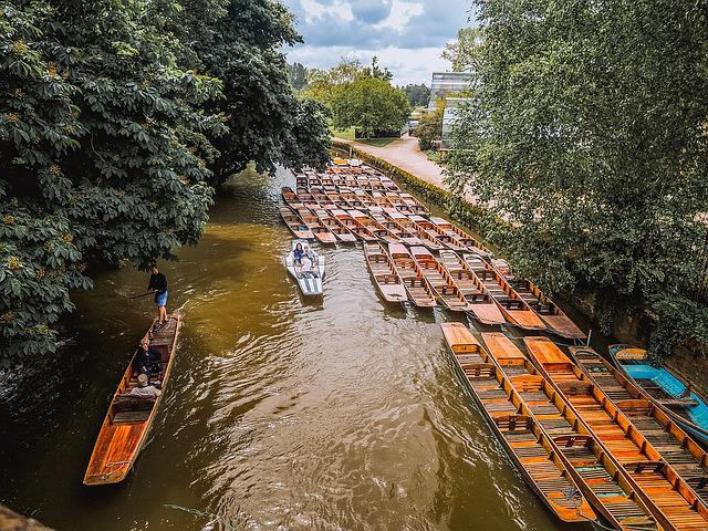 Boat, Canal, Rive, Oxford