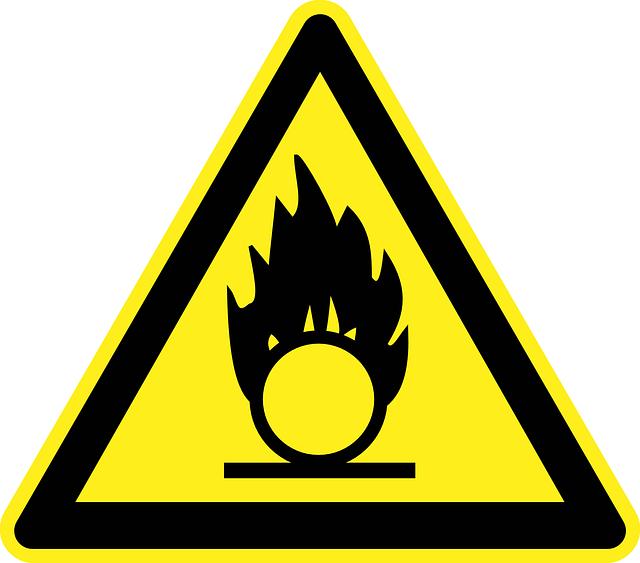 Inflammable, Flammable, Fire, Burn, Oxidant, Oxidizer