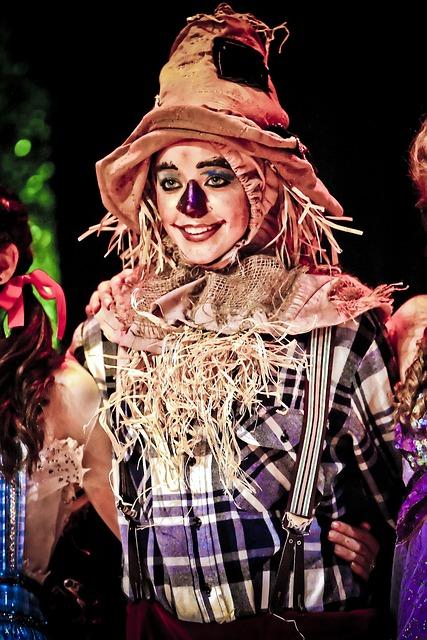 Scarecrow, Actress, Oz, Show, Hat, Makeup, Fantasy