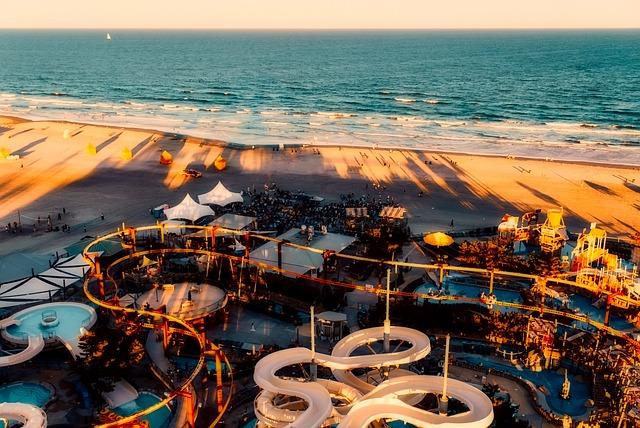 California, Amusement Park, Rides, Sea, Ocean, Pacific