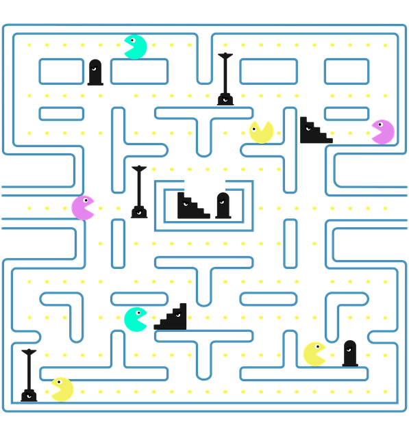 Pacman, Game, Videogame, Nintendo, Entertainment, Fun