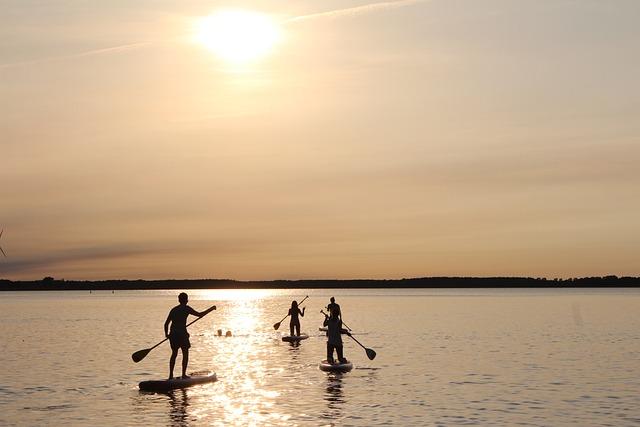 Stand Up Paddle, Paddle, Sunset