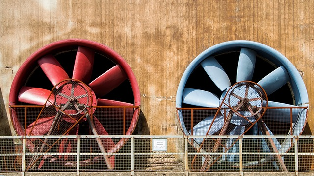 Fan, Paddle-wheel, Duisburg, Landscape Park, Ruhr Area