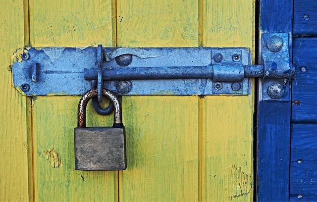 Bolt, Padlock, Lock, Security, Shed, Door, Beach Hut