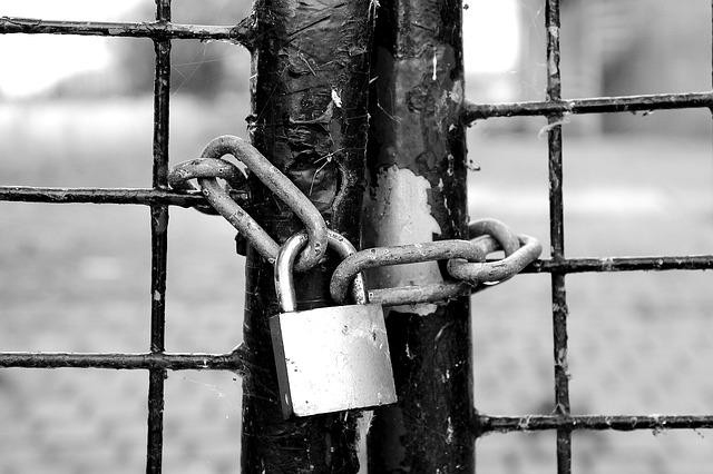 Fence, Castle, Chain Lock, Padlock, Grid, Secure