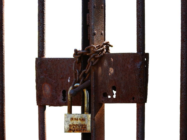 Grid, Closed, Padlock, Castle, Links Of The Chain