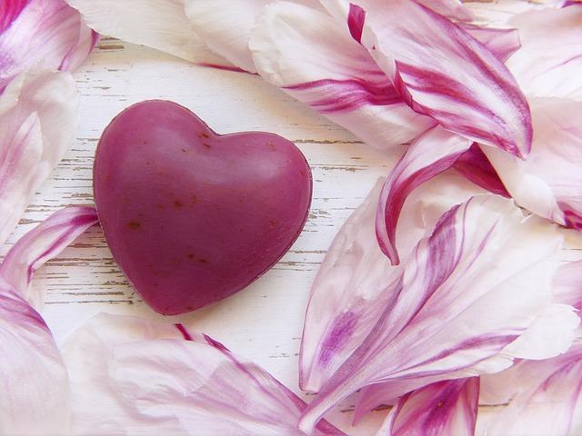 Heart, Soap, Pink, Peony, Flowers, Paeonie, Wellness