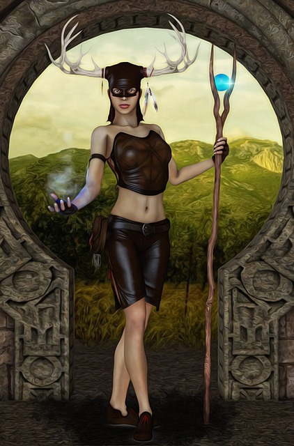 Horned Woman, Woman, Female, Paganism, Old Religion