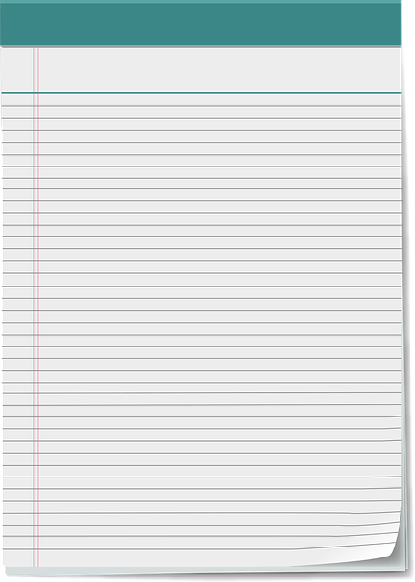 Vector Notepad, Notepad, 5x8 Notepad, Note, Paper, Page