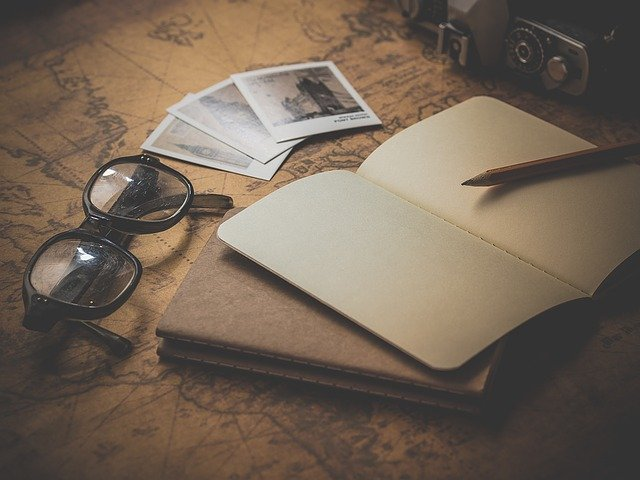 Notepad, Glasses, Travel, Planning, Page, Notes, Paper