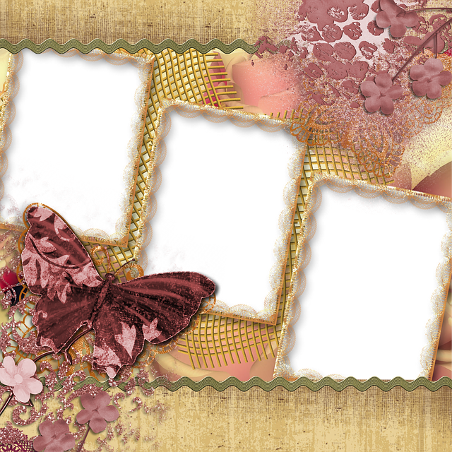 Background, Scrapbook, Page, Butterfly, Square