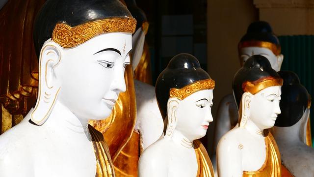 Buddha, Statue, Shwedagon, Pagoda, Yangon, Rangoon