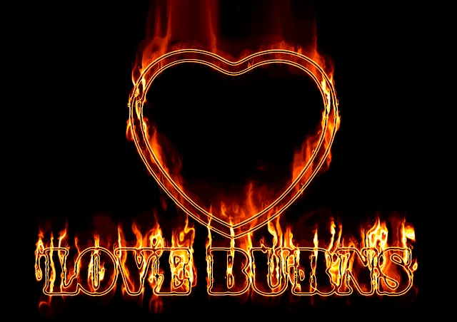 Heart, Love, Fire, Burn, Pain, Suffering, Broken Heart