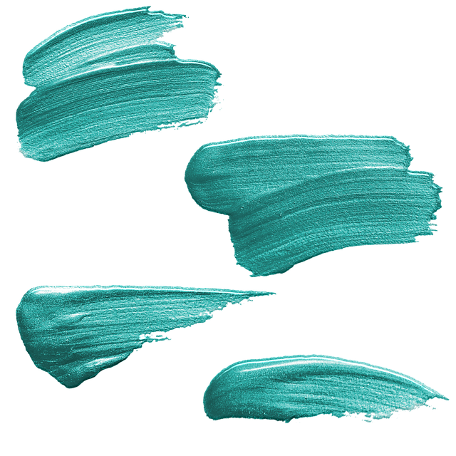 Paint Strokes, Acrylic, Oil, Teal, Brush, Paint, Color