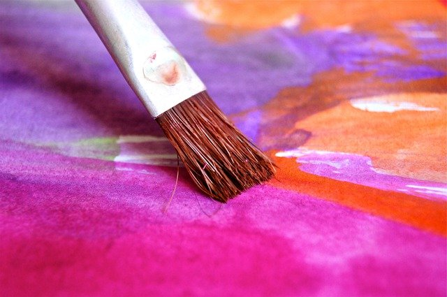 Brush, Color, Paint, Play, Watercolor, Art, Pink, Image