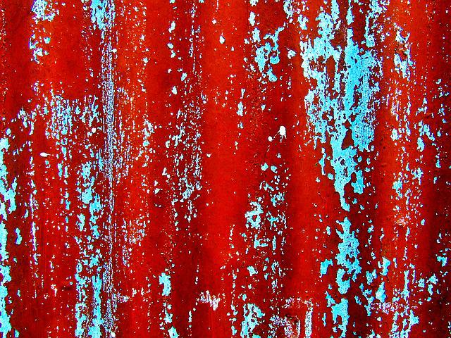 Background, Red, Paint, Rusty, Corrugated, Grungy