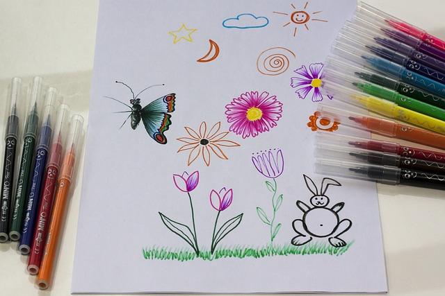 Felt Tip Pens, Children Drawing, Drawing, Image, Paint