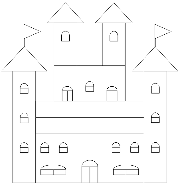 Free Photo Paint Home Castle Coloring Page Drawing Mansion Max Pixel
