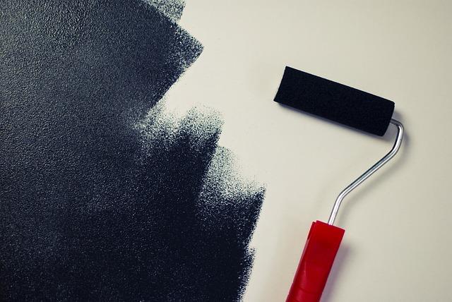 Painting, Paint Roller, Black