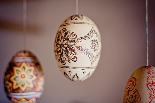 Easter Eggs, Drawn, Painted, Depend, Easter
