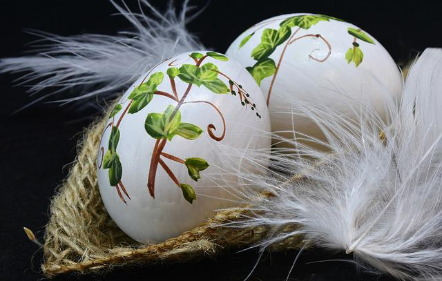 Easter, Celebration, Egg, Easter Eggs, Painted, Feather