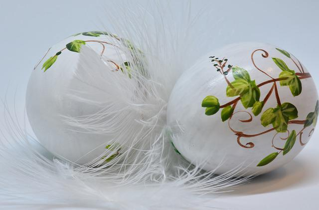 Easter, Egg, Easter Eggs, Painted, Feather, Fragility