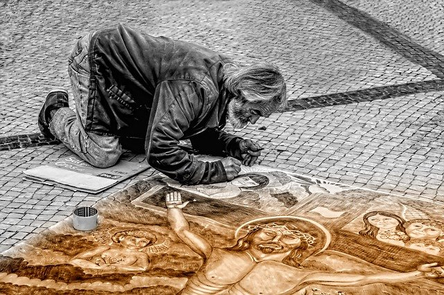 Man, Artist, Street, Painter, Painting, Art, People