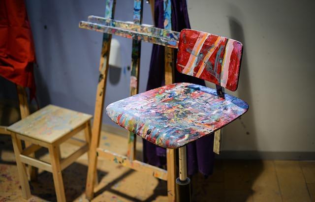 Wood, Chair, Work Shop, Atelier, Painter, Furniture