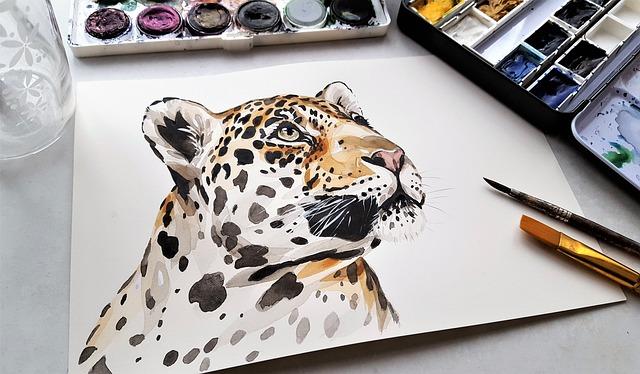 Art, Painting, Jaguar, Nature, Animal, Watercolor