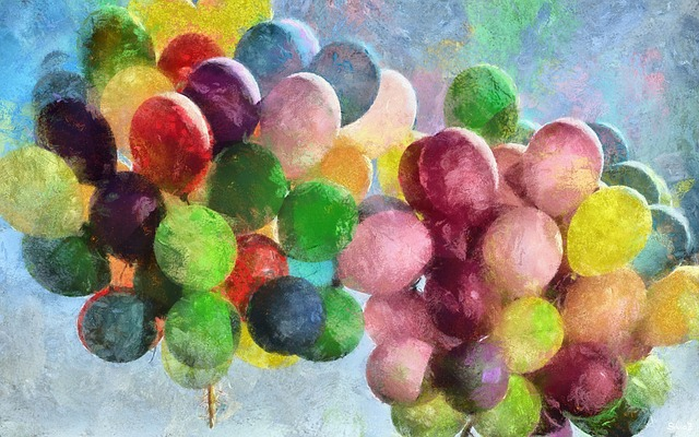 Balloons, Drawing, Painting, Leave Blank, Watercolour
