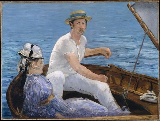 Monet, Boat, Classic, Boating, Painting, Edouard Manet