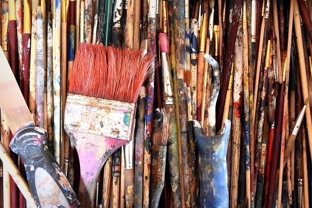 Painting, Dye, Brush, Schildergerief, Tassels, Art